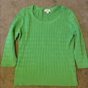 Gorgeous LIME green sweater!